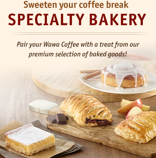 Pair your Wawa Coffee with a treat from our premium selection of baked goods!