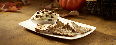 Pumpkin Cannoli Dip & Chips