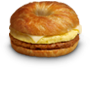 Chorizo Sausage, Egg & Cheese on a Croissant