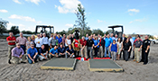 100th Florida Store Ground Breaking Cement Imprints Large Group
