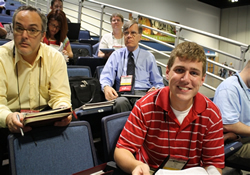 Tyler Ward (front right) was the Kansas West Conference's first lay alternate delegate to General Conference 2012.