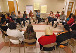 All circle leaders and their allies in Troup County in Georgia come together for an educational session during one of their weekly meetings.