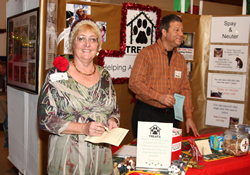 Cindy Cosper works in one of the Alternative Giving Market booths at John Wesley United Methodist Church in Tallahassee, Fla.