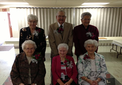 Those attending the special birthday celebration at the Mount Pleasant United Methodist Church included (front, from left) Margaret Fornataro, 92; Anna Mae Gearhart, 95; Ruth Guadiano, 97; (second row) Claudia Stahl, 95; Frank McConnell, 91; Dorothy Kalp, 93. Also recognized were Carl Anderson, 98; Erma Eckels, 97; and Charles Newill, 97.