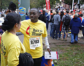2009년 5K 마라톤대회 광경. UMNS web-only photos courtesy of the New York Annual Conference.