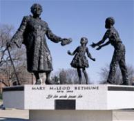 The Mary McLeod Bethune Memorial in Lincoln Park in Washington, D.C. Photo courtesy of the Library of Congress.