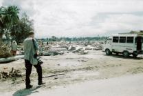 UMNS photographer Mike DuBose covering the Asian tsunami of 2005 in Banda Aceh, Indonesia.