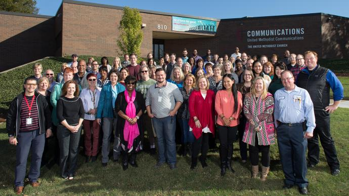 The staff of United Methodist Communications, October 2017.