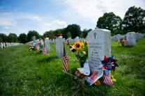 Family, friends, and visitors honor the fallen in Section 60 of Arlington National Cemetery, Arlington, Va., May 29, 2017. U.S. Army photo by Elizabeth Fraser,  Arlington National Cemetery.