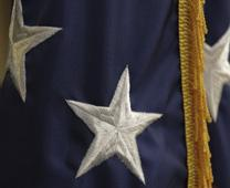 Close up of an American flag; an image from FEMA Photo Library. Public domain. Courtesy of Bill Koplitz, Wikimedia Commons. Cropped by UMC.org.