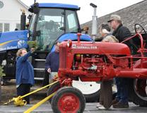 A blessing of the tractors worship service in DeKalb County. Story from the Northern Illinois Conference of The United Methodist Church. Photo by Al Benson.
