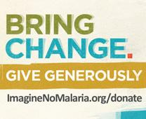 Imagine No Malaria logo for World Malaria Day social media campaign, 2015, courtesy of Imagine No Malaria.