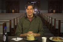 Video image from Chuck Knows Church: Shrove Tuesday, courtesy of Discipleship Ministries.