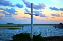 Cross stands at Belin Memorial United Methodist Church in Murrells Inlet, South Carolina. Photo by Austin Bond Photography.