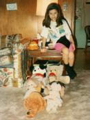 Darian Duckworth and her stuffed animal congregation. Photo courtesy of Rev. Duckworth.