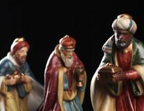 Figures of the three kings or Magi from Nativity setting. Photo by Kathleen Barry, United Methodist Communications.