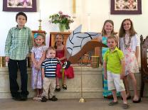 Sunday School children helped raised funds, and awareness, at a North Ferrisburgh church. Photo courtesy of The Vermont Eagle online.