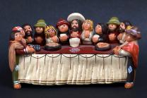 A figurine from Bolivia  depicts the Last Supper of Jesus and his Disciples. Photo by Kathleen Barry, United Methodist Communications.