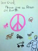 Drawing from Bonner Springs United Methodist Church Sunday School class, courtesy General Board of Church and Society.