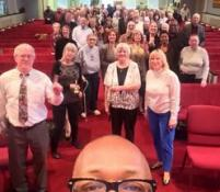 Rev. Peter Matthews and Lindenwald United Methodist Church. Selfie by Rev. Matthews, courtesy West-Ohio Conference.