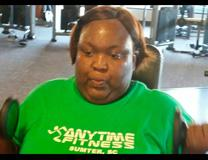 The Rev. Telley Lynnette Gadson works at her new fitness routine. Photo by Jessica Brodie, South Carolina Advocate.