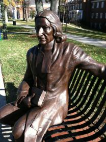 Statue of John Welsey rests on the grounds of High Point University in High Point, NC. The university is afflicated with the United Methodist Church. Photo by Kathleen Barry, United Methodist Communications.