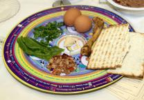 Passover Seder Plate features symbolic foods. Photo courtesy of Mount Bethel United Methodist Church.