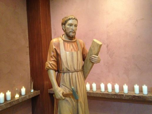Statue of St. Joseph in St. Henry Catholic Church, Nashville, Tenn. Photo by Kathleen Barry, UMNS.