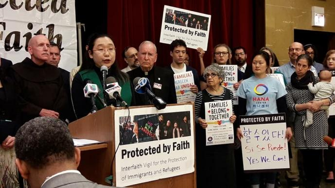 Rev. Rosa Lee says at a press conference against the zero-tolerance immigration policy.