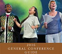 An important resource for delegates, church members and journalists, the 2016 General Conference Guide contains such helpful information as the conference schedule, the legislative process and historical background. Artwork courtesy of United Methodist Communications.