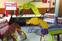 Brightly painted wooden mosquitoes helped publicize the Alaskan churches' 2016 Imagine No Malaria Lenten fundraising campaign. Photo courtesy of the Alaska United Methodist Conference.
