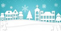 Downloadable Christmas illustrations for your home. Illustration by Troy Dossett
