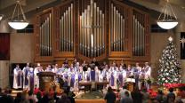 The St. John's United Methodist Church Choir in Lubbock, Texas performs