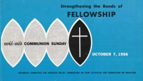 Brochure for World Communion Sunday from 1956