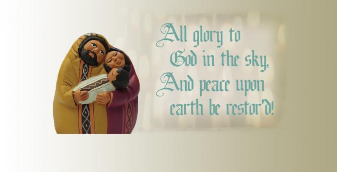 A Christmas song teaches that peace comes when we live for Jesus. Image by Kathryn Price, United Methodist Communications.