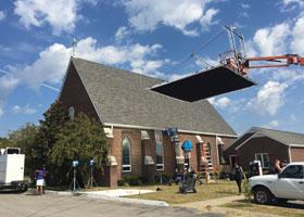 The film ALL SAINTS was filmed on location at All Saints Church in Smyrna, Tennessee. Photo by Christopher Fenoglio