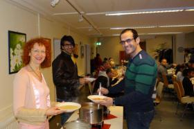 Church dinner in Bremen, Germany