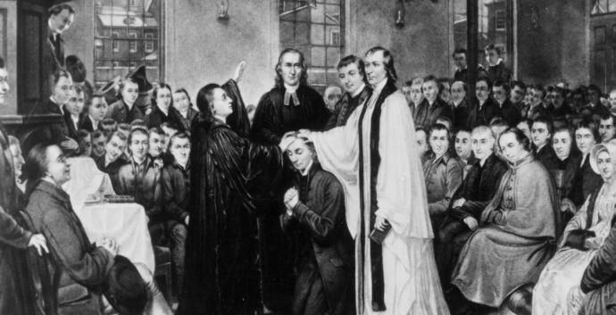 The Christmas Conference founded the church that would be led by Francis Asbury. Image public domain, via Wikimedia Commons.