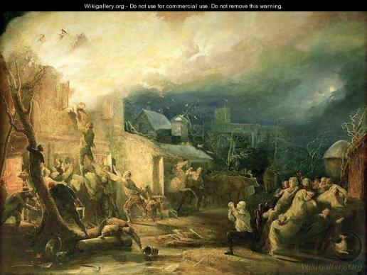 H. P. Parker's painting of Wesley's rescue was a way of supporting a dissenting faction of the church. Image courtesy WikiGallery.org.