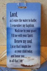 Baptism shower tags are available from the United Methodist Church of the Resurrection.
