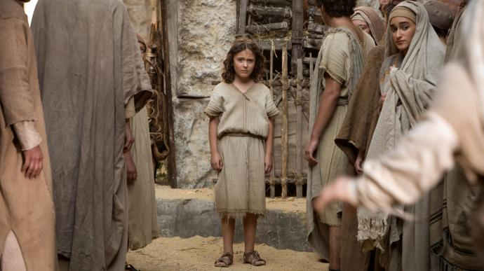 Jesus confronts the Roman centurion Severus in this scene from The Young Messiah. © 2016 Focus Features. All Rights Reserved. Used with permission.