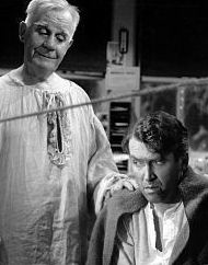 Clarence and George from It's a Wonderful Life.