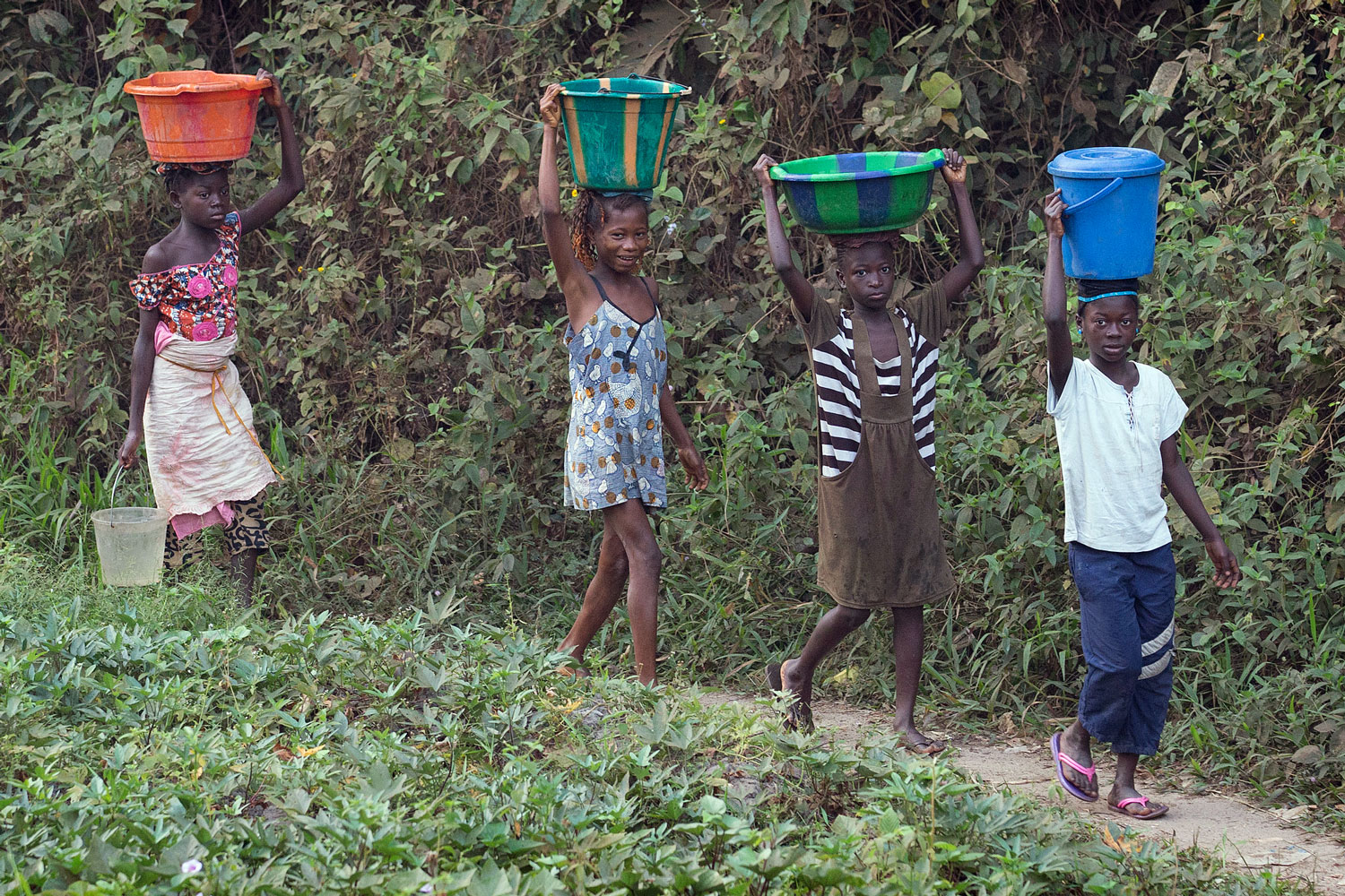 It is often young girls who are called to forgo their education so they can provide water for their families.