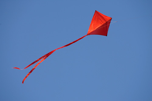 Flying a red kite can be a way of remembering the winds of Pentecost.