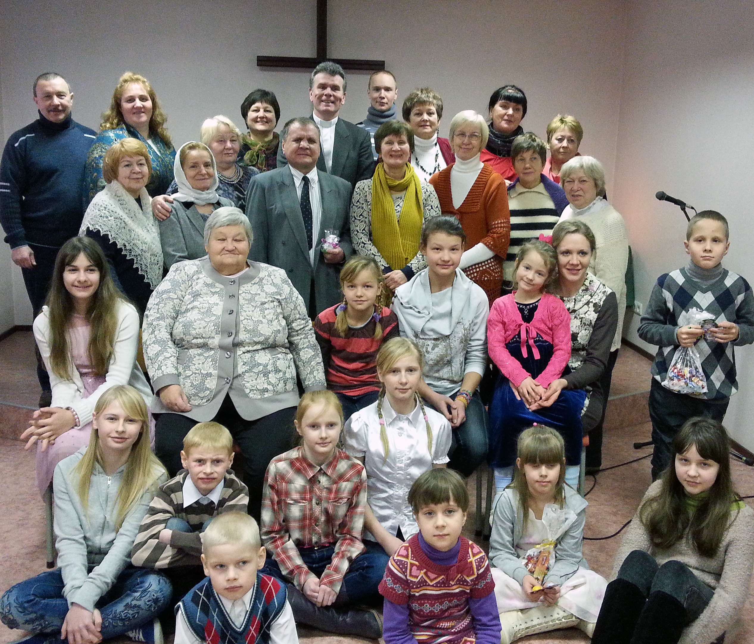 The congregation at Galvary United Methodist Church in Khotla-Jarve, Estonia