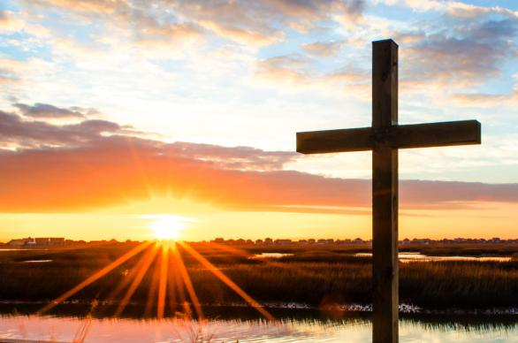 Sunrise at Belin United Methodist Church, Murrells Inlet, SC. Photo by Austin Bond Photography.