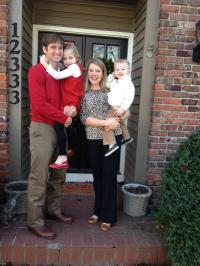 Simpson family: Ben, holding Joy, and Molly, with David.