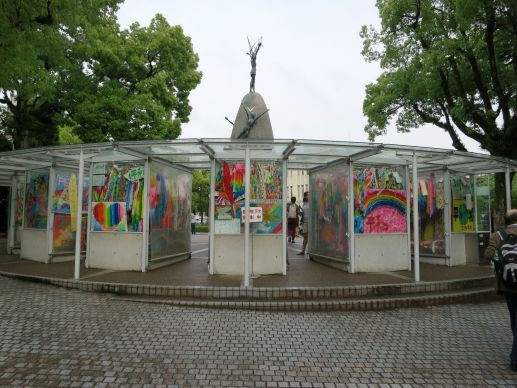 During the International Association of Methodist Schools, Colleges and Universities meeting May 24-28, visitors at the Children's Peace Monument recall the 1945 bombing of Hiroshima, Japan. Photo by Barbara Dunlap-Berg, UMNS