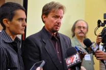 Frank Schaefer speaks to media Friday, June 20, after a hearing. Photo by Melissa Lauber, Baltimore-Washington Conference, for UMNS