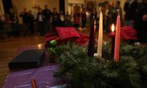 Sixty-First Avenue United Methodist Church in Nashville, TN. has 80 members who reach out to the community in a variety of ways. Worshippers join hands during this 2011 Advent service. Photo by Kathleen Barry, UMNS